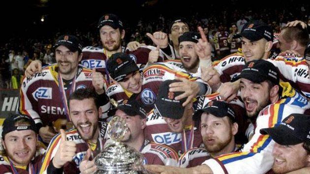 Radost hokejistů Sparty