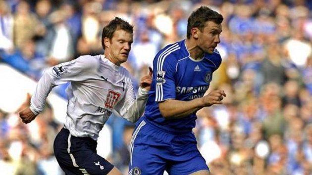 Andrej Ševčenko v modrém dresu londýnskéo Chelsea.