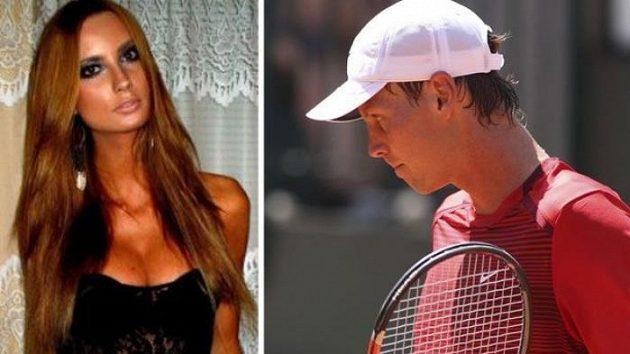 Tomáš Berdych má nyní oči jen pro mladičkou modelku Ester Sátorovou.