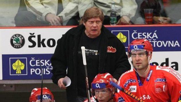 Trenér František Výborný na lavičce Českých Budějovic