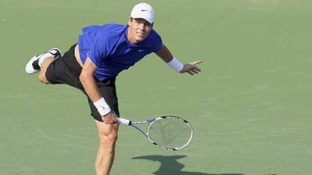 Tenista Tomáš Berdych během zápasu proti Maratu Safinovi na turnaji v Šangaji