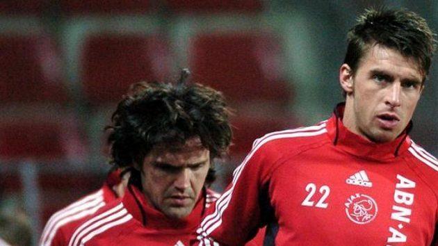 Zdeněk Grygera (vpravo) v dresu Ajaxu Amsterdam