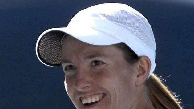 Justine Heninová se raduje z postupu do finále na Australian Open