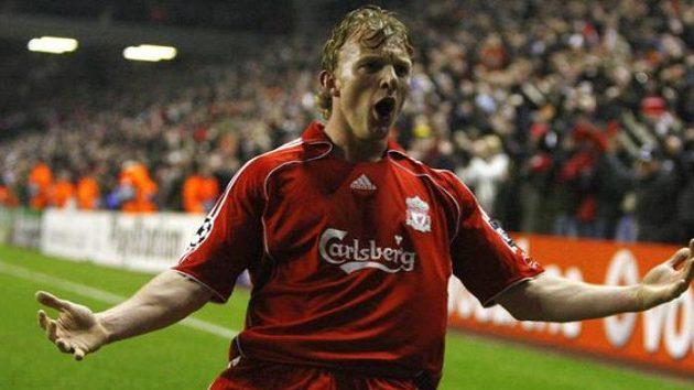 Fotbalista Dirk Kuyt z Liverpoolu