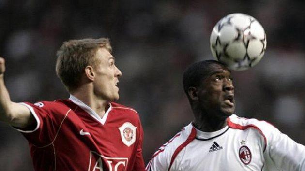 Darren Fletcher (vlevo) v dresu Manchesteru.