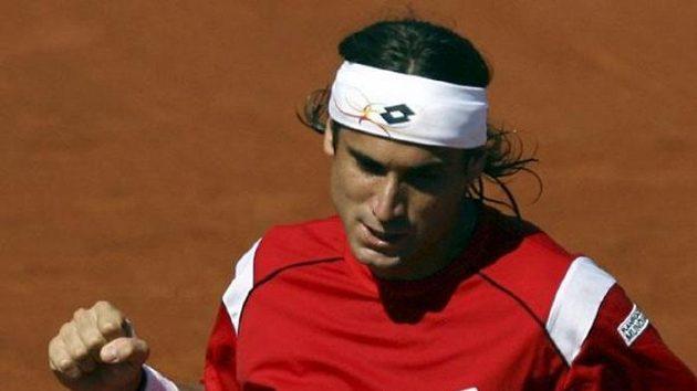 Španělský tenista David Ferrer během semifinále Davis Cupu proti Izraeli