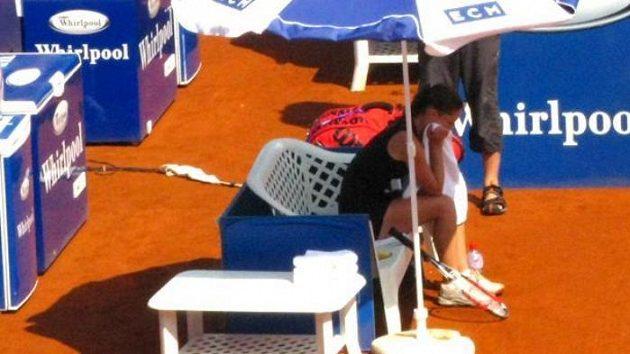Zklamaná Iveta Benešová na Prague Open