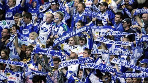Fanoušci hokejistů Komety Brno