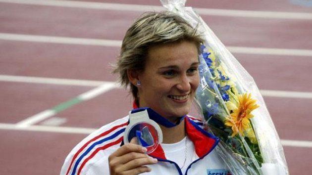 Oštěpařka Barbora Špotáková se stříbrnou medailí