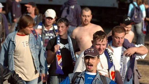 Fanoušci fotbalistů Baníku Ostrava