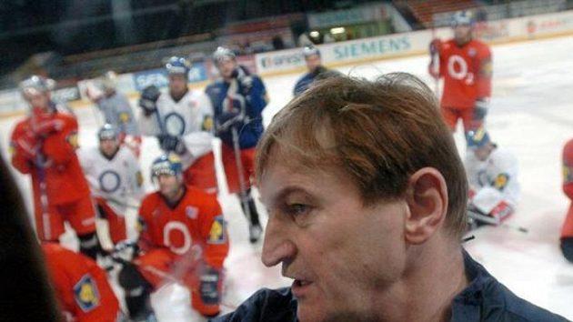 Alois Hadamczik na tréninku hokejové reprezentace