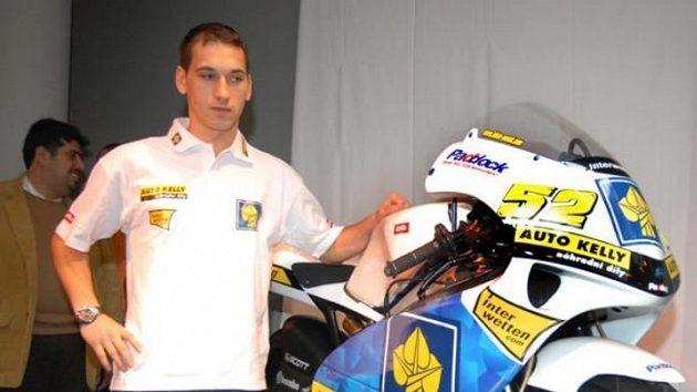 Lukáš Pešek s motorkou pro novou sezónu