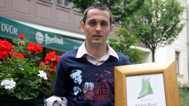 Andrej Kerič s oceněním pro nejlepšího cizince Gambrinus ligy