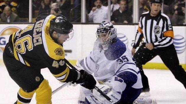 Hokejista Bostonu David Krejčí na archivním snímku.