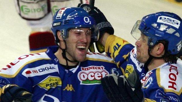 Vítězna radost hokejistů Zlína