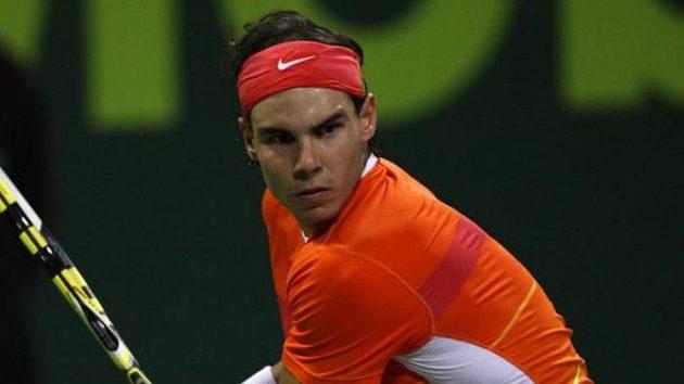 Rafael Nadal na turnaji v Dauhá