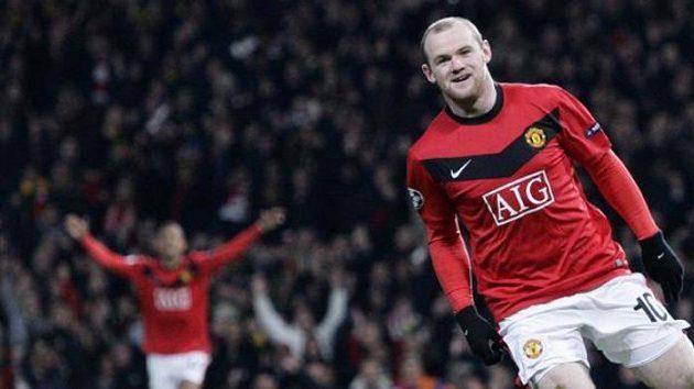 Útočník Manchesteru United Wayne Rooney po jedné ze svých branek