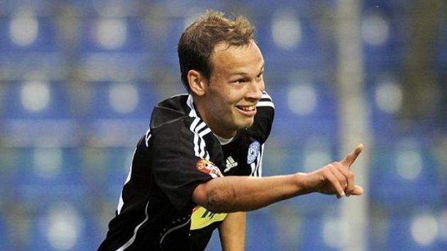 Olomoucký fotbalista Jakub Petr.