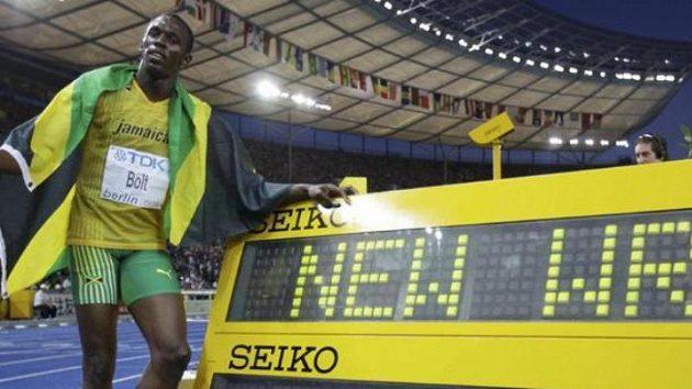 Jamajský sprinetr Usain Bolt zvítězil na MS v Berlíně na trati 200 m ve světovém rekordu.