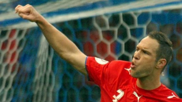 Jan Polák se raduje z gólu v utkání proti San Marinu.