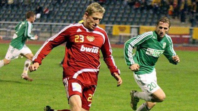 Fotbalista Dukly Praha Tomáš Kulvajt