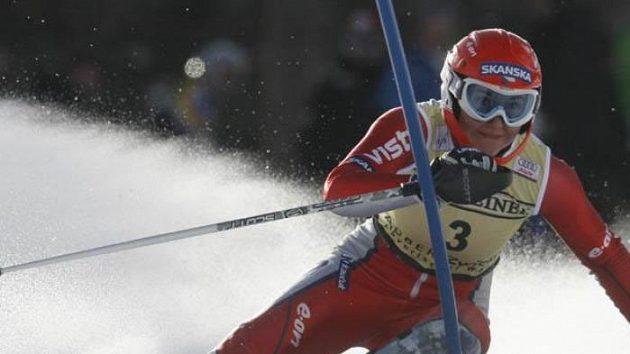 Šárka Záhrobská na trati slalomu SP v německém Zwieselu - archivní fotografie.