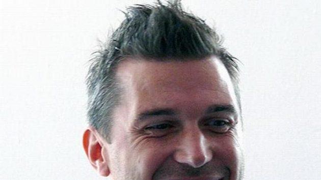 Útočník Chomutova Zdeněk Skořepa