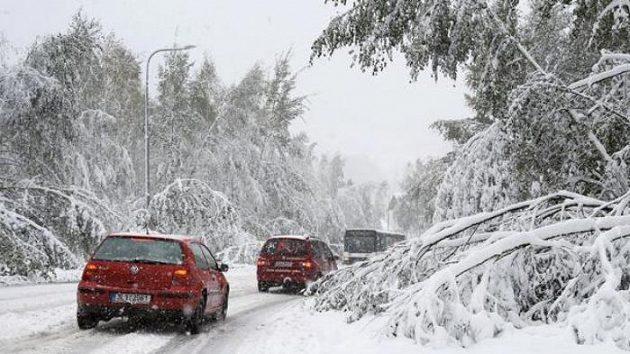 Liberecko zasáhl příval sněhu.