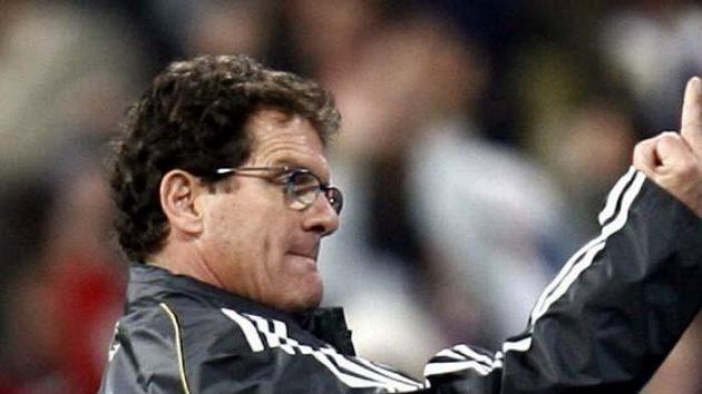 Trenér Fabio Capello při jeho slabší chvíli v sezóně.