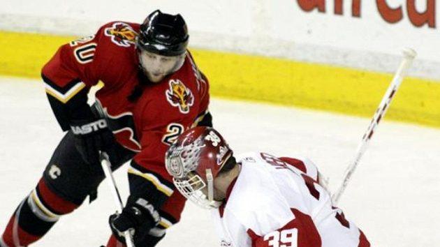 Švéd Kristian Huselius ještě v dresu Calgary.
