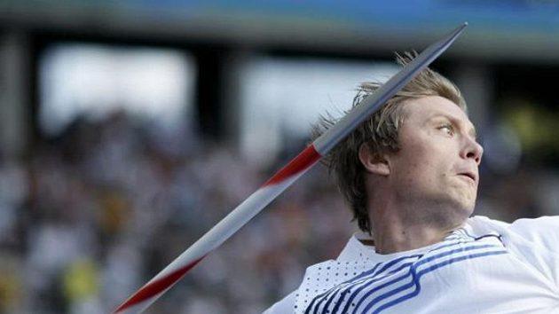Norský oštěpař Andreas Thorkildsen při finálovém závodu na MS v Berlíně.
