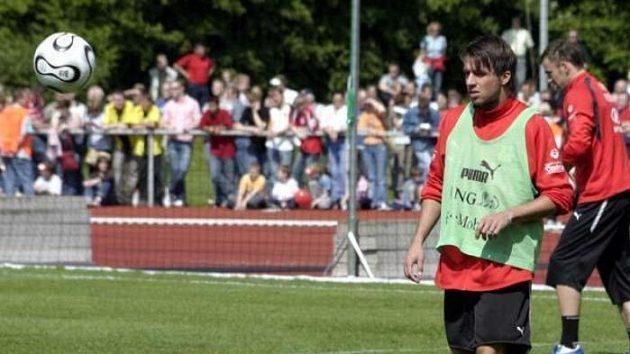 Zdeněk Grygera na tréninku reprezentace ve Westerburgu.