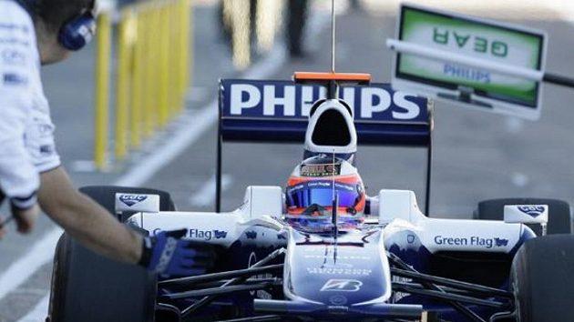 Rubens Barrichello ve voze Williamsu při testech ve Valencii