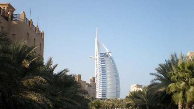 Snímek jednoho z nejluxusnějších hotelů na světě Burdž Al Arab
