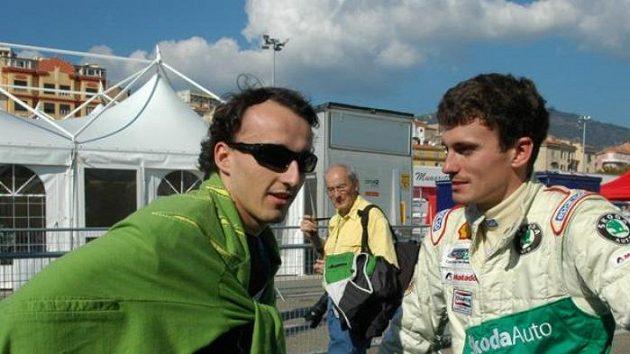 Jan Kopecký (vpravo) s Robertem Kubicou
