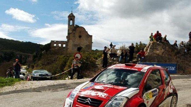 Martin Prokop na trati Katalánské rallye