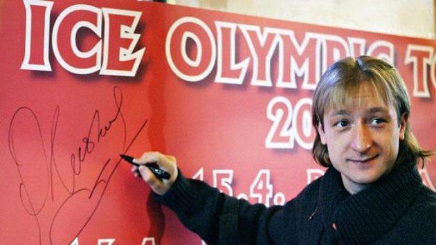 Ruský krasobruslař Jevgenij Pljuščenko