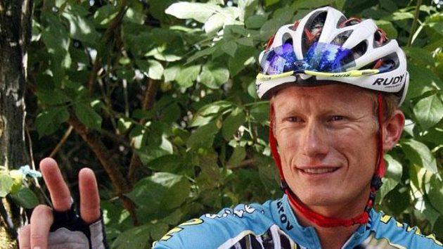 Kazašský cyklista Alexander Vinokurov