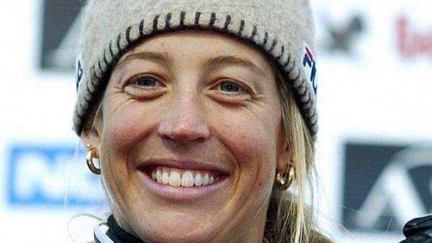 Francouzská snowboardistka Karine Rubyová se zlatou medailí z MS 2003 v rakouském Kreischbergu