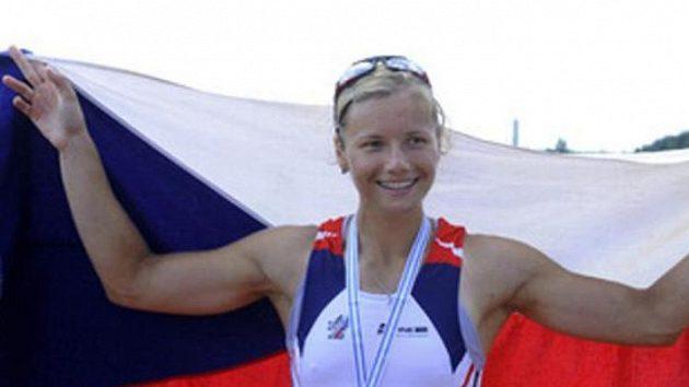 Skifařka Jitka Antošová se zlatou medailí
