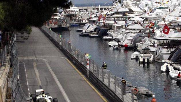 Jenson Button na trati Velké ceny Monaka