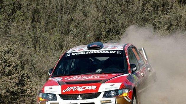 Martin Prokop s vozem Mitsubishi Lancer EVO IX