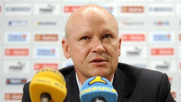 Ivan Hašek na tiskové konferenci v Praze po schůzce s realizačním týmem fotbalové reprezentace