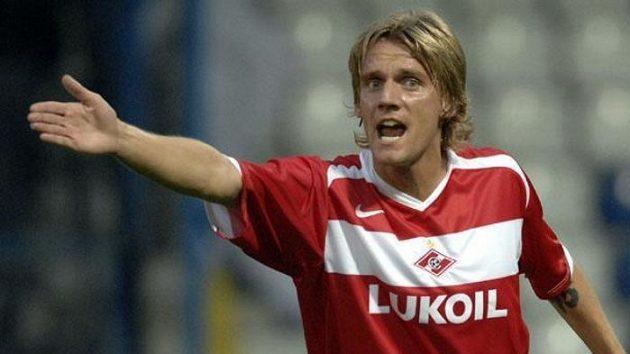 Český hráč Spartaku Moskva Radoslav Kováč