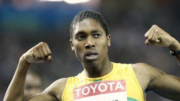 Jihoafrická běžkyně Caster Semenyaová na MS v Berlíně.