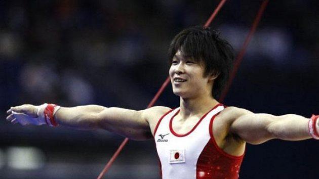 Japonský gymnasta Kohei Učimura na MS v Londýně