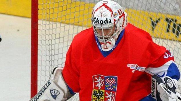 Brankář hokejbalové reprezenatce Petr Šulan