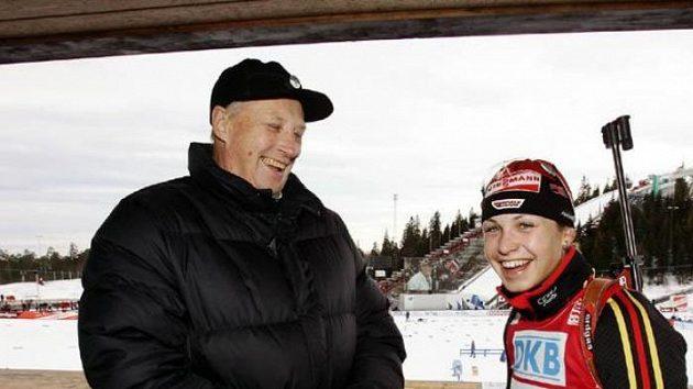 Magdaleně Neunerové k dvojnásobnému triumfu na závodech v Oslu gratuloval i norský král Harald.