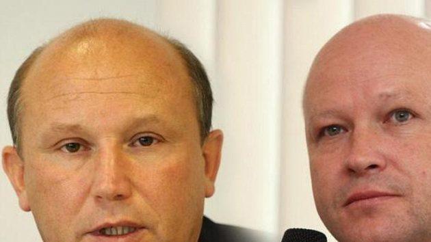 Kandidáti na předsedu ČMFS Luděk Vinš (vlevo) a Ivan Hašek