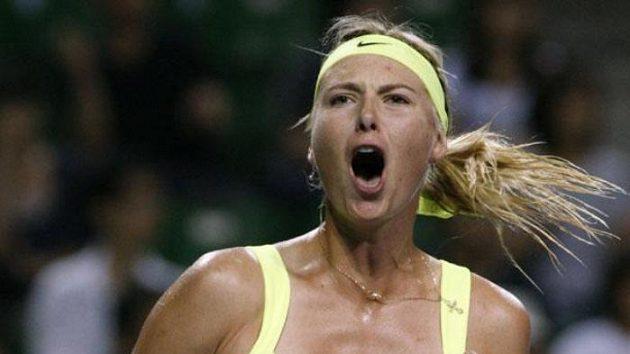 Radost ruské tenistky Marii Šarapovové